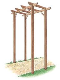 Diy Pergola Kits by How To Build A Simple Entry Arbor Arbors Gardens And Yards