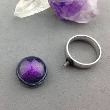 Purple Mood Dark Purple Mood Ring Topper The Bead Tree