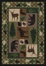 Rustic Cabin Lodge Area Rugs Wildlife Rugs Ebay