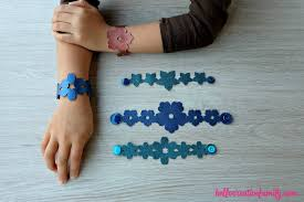 leather bracelet craft images Diy faux leather floral cuffs made on the cricut cricut craft jpg