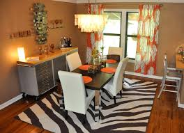 inspiring dining room curtains patterned or plain ruchi designs superb design of the brown wooden floor of the dining room areas with white rugs and