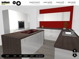 Red And White Kitchen by Modern 3d Kitchen Planner With Red And White Color 3d Kitchen