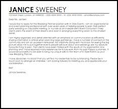 to be wedding planner wedding planner cover letter sle livecareer