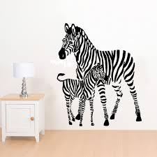 mummy zebra and calf wall art sticker animal vinyl mural african mummy zebra and calf wall art sticker animal vinyl mural african decal wa446