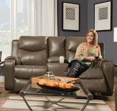 Reclining Sofa With Console by Marvel Double Reclining Sofa With Console By Southern Motion