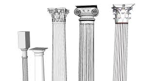 Roman Columns For Home Decor by Architecture Types Of Columns Architecture Decor Color Ideas