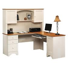 Harbor View Craft Armoire Sauder Harbor View Corner Computer Desk With Hutch Antiqued