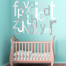 alphabet wall decal large oversized letters children s zoom