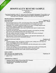 Sample Profiles For Resumes by Hospitality Resume Sample U0026 Writing Guide Resume Genius