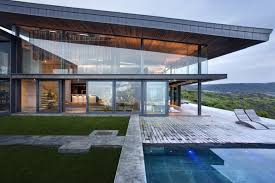 Glass And Concrete House by Dazzling Cliff Top Modern Wood Glass And Concrete Home By Saota