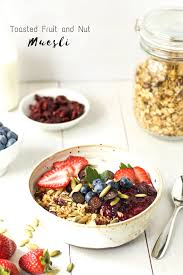 toasted fruit and nut muesli vegan the wholesome fork