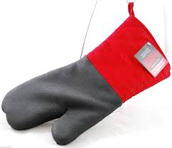 backyard grill mitt red black 16 inch heat resistant neoprene palm