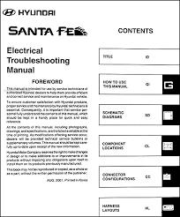 2002 hyundai santa fe electrical troubleshooting manual original
