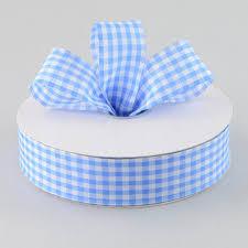 blue gingham ribbon 1 5 gingham ribbon light blue white 50 yards 50906