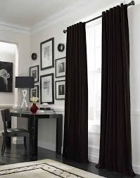 White Black Curtains Living Room Black Curtains Ideas With Nice White Wall Modern Black