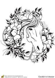 Coloriage cavalier et chevaux un tatouage de cheval