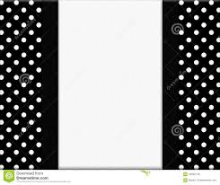 black and white polka dot ribbon black and white polka dot frame with ribbon background stock photo