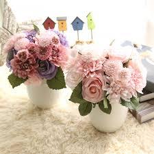 home wedding decor 1 bunsh silk artificial flower pink dahlia public places home