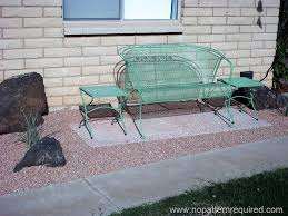 Vintage Metal Outdoor Furniture Mike And Sara Rehab A 60s Retro Ranch Mid Century Landscaping