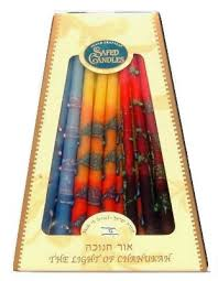 chanukah candles safed premium fancy chanukah candles multicolor