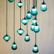 Blue Glass Pendant Light Blue Glass Pendant Light Aqua Blue Glass Pendant Light