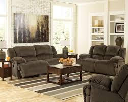 zero wall clearance reclining sofa toletta chocolate reclining sofa set by ashley 56701