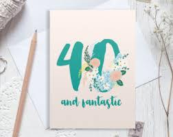 40th birthday card 40 birthday milestone birthday the big