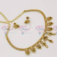 gold blue stone necklace images Nl3624 traditional gold finish blue white stones attigai ethnic JPG