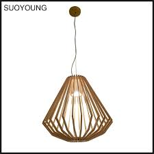 Wooden Pendant Lighting by Modern Wooden Pendant Lamp Polywood Pendant Lights Md20034 1a