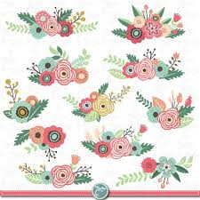 wedding flowers clipart flowers clipart pack flower clip pack vintage flowers