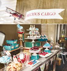 vintage airplane baby shower airplane baby shower dessert table i heart to party