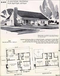 Mid Century Modern House Plan Mid Century Modern House Plans 1955 Modern Colonial National
