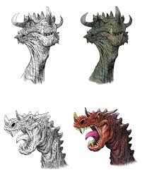 gil robles dragon sketches