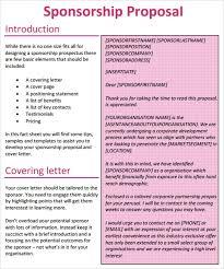 sponsorship proposal template 15 free word excel pdf format