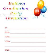 balloon printable graduation invitations