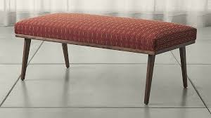 Seagrass Bench Leather U0026 Upholstered Benches For Your Home Crate And Barrel