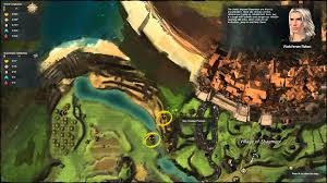 Gw2 World Map by Journey Guild Wars 2 Talk To Watchman Rebec Directions