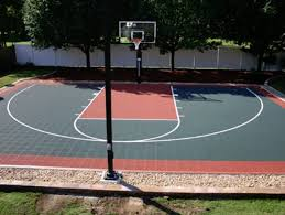 Build A Basketball Court In Backyard Outdoor Basketball Court Tile For Backyard Courts