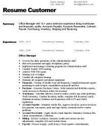 Sample Resume For Office Job by Resume For Office Manager Berathen Com