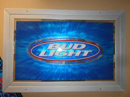 bud light for sale huge anheuser busch bud light authentic licensed framed bar glass