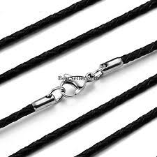 black rope chain necklace images Leather chain necklace ebay jpg