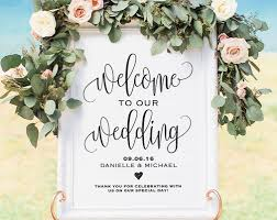 wedding welcome sign template welcome wedding sign welcome wedding printable wedding sign