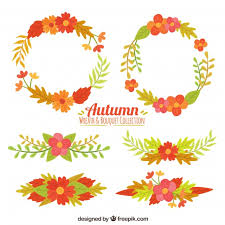 autumn ornaments collection vector free