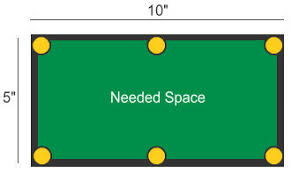 how much space is needed for a pool table illustration table english jpg