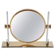 broadway lighted vanity makeup desk large vintage table top vanity mirror by karl springer at 1stdibs