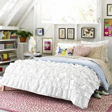 bedroom country white loft bedroom with decorative laced teen