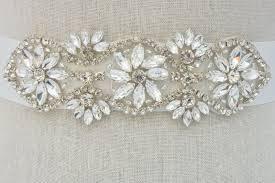 bridal belt rhinestone bridal sash beaded bridal belt wedding dress