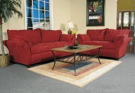 Red Sofa Set by Red Fabric Modern Loveseat U0026 Sofa Set W Options