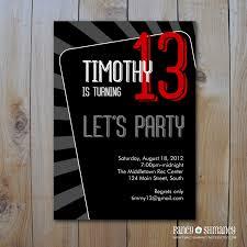 teen boy u0027s birthday invitation let u0027s party