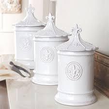 fleur de lis kitchen canisters fleur de lis white kitchen canister set